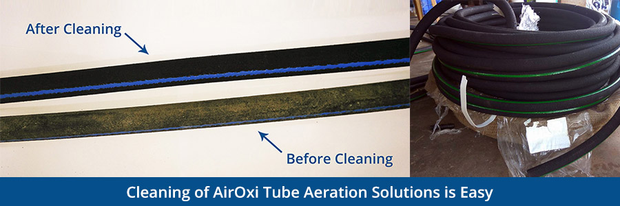 Cleaning of AirOxi Tube Aeration Solutions