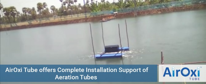 Complete Installation Support of Aeration Tubes AirOxi Tubes