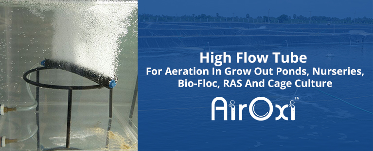 High Flow Tube For Aeration In Grow Out Ponds, Nurseries, Bio-Floc, RAS And Cage Culture