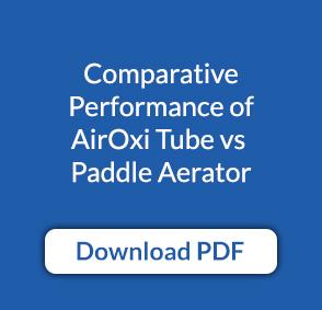 Comparative performance of AirOxi Tube vs Paddle Aerator