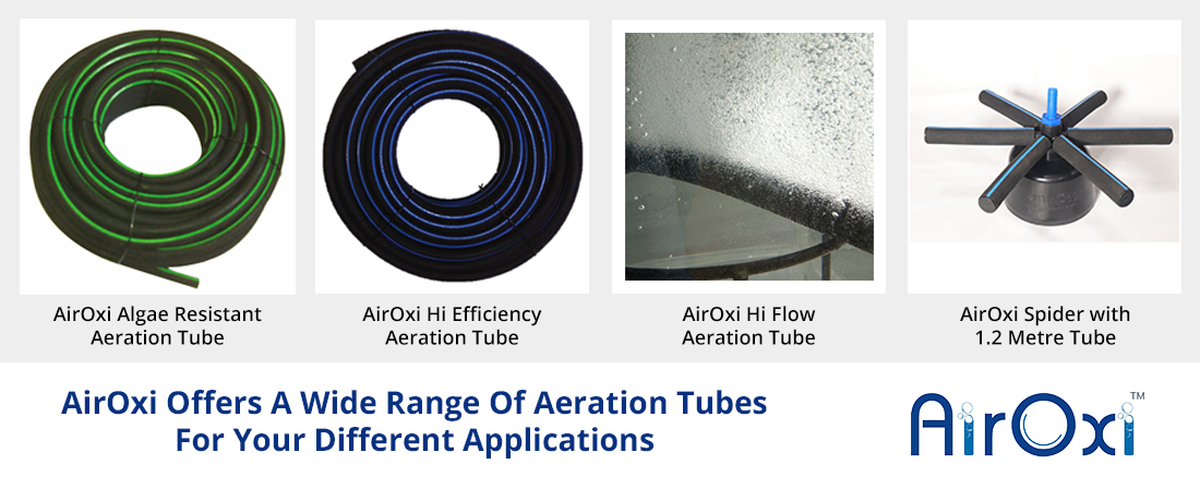 AirOxi Offers A Wide Range Of Aeration Tubes For Your Different Applications -AirOxi-Tube-Aeration-Solutions