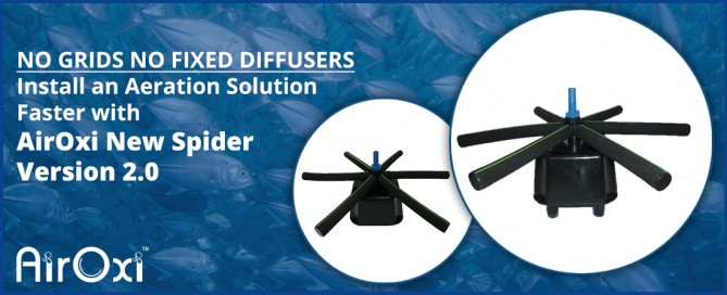 No Grids No Fixed Diffusers-Install an Aeration Solution Faster with AirOxi New Spider-AirOxi Tube