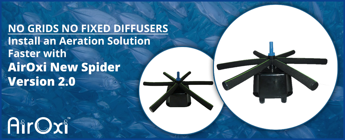No Grids No Fixed Diffusers – Install an Aeration Solution Faster with AirOxi New Spider