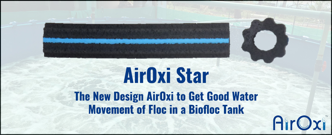 AirOxi Star – The New Design AirOxi to Get Good Water Movement of Floc in a Biofloc Tank-AirOxi Tube Aeration Solutions