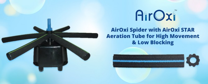 AirOxi Spider with AirOxi STAR Aeration Tube for High Movement & Low Blocking